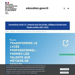Transformer le lycée professionnel : former les talents aux métiers de demain