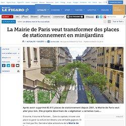 La Mairie de Paris veut transformer des places de stationnement en minijardins