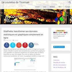StatPedia: transformer ses données statistiques en graphiques simplement en ligne