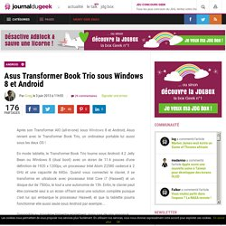 Asus Transformer Book Trio sous Windows 8 et Android