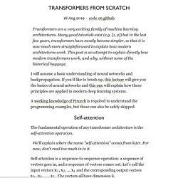 Transformers from scratch