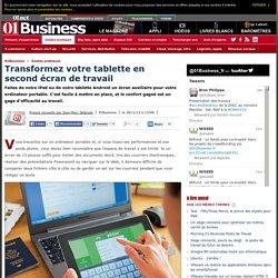 Transformez votre tablette en second écran de travail via