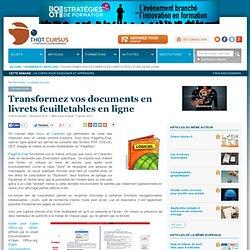 Transformez vos documents en livrets feuilletables en ligne