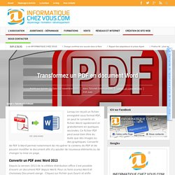 Transformez un PDF en document Word - Informatique Chez Vous.com