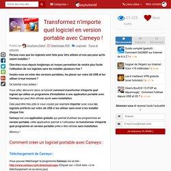 Transformez n'importe quel logiciel en version portable avec Cameyo