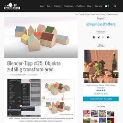 Blender-Tipp #25: Objekte zufällig transformieren