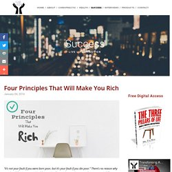 Four Principles That Will Make You Rich — Transforming Adjustments
