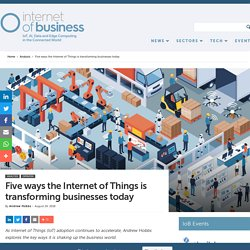 Five ways the Internet of Things is transforming businesses today