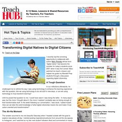 Transforming Digital Natives to Digital Citizens
