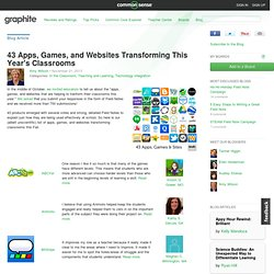 43 Apps, Games, and Websites Transforming This Year's Classrooms