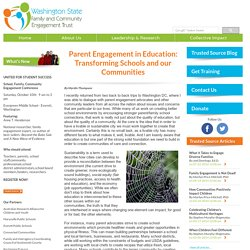 Parent Engagement in Education: Transforming Schools and our Communities