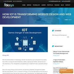 How IOT is transforming website design and web development
