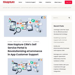 How self service crm is transforming ecommerce in app customer support