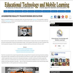 Augmented Reality Transforming Education