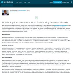 Mobile Application Advancement - Transforming business Situation: elsneraustralia