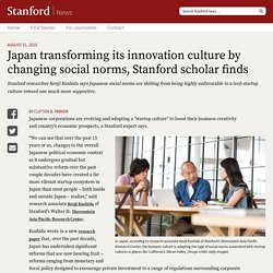 Japan transforming its innovation culture