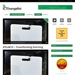 #TLAB13 – Transforming learning
