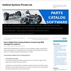 How is Digital Parts Catalog Software transforming OEM management systems?