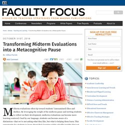Transforming Midterm Evaluations into a Metacognitive Pause