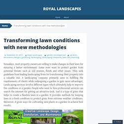 Transforming lawn conditions with new methodologies