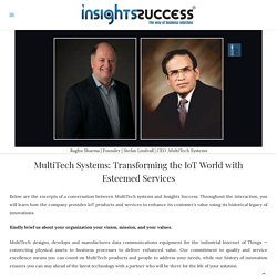 Transforming the IoT World with Esteemed Services - MultiTech Systems