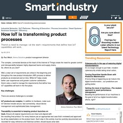 How IoT is transforming product processes