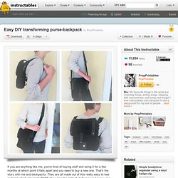 Easy DIY transforming purse-backpack