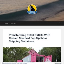 Transforming Retail Outlets With Custom Modified Pop-Up Retail Shipping Containers – Used Shipping, Refrigerated, Storage Containers For Sale