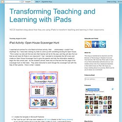 iPad Activity: Open House Scavenger Hunt