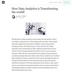 How Data Analytics is Transforming the world! - Soumitjena - Medium