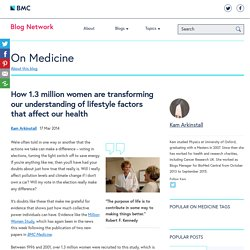 How 1.3 million women are transforming our understanding of lifestyle factors that affect our health