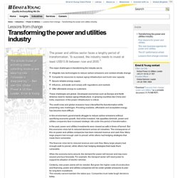 Lessons from change - Transforming the power and utilities industry
