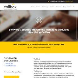 Software Company Transforms Marketing Activities after Using Callbox - B2B Lead Generation Company Malaysia