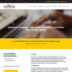 Software Company Transforms Marketing Activities after Using Callbox - B2B Lead Generation Company Malaysia