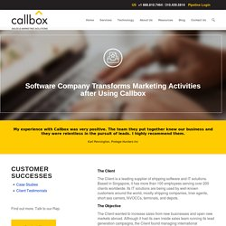 Software Company Transforms Marketing Activities after Using Callbox
