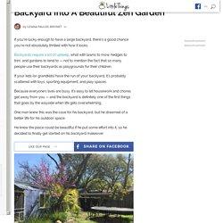 Man Transforms Boring Backyard Into Zen Garden