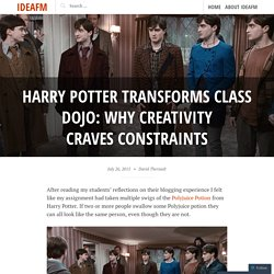 Harry Potter Transforms Class Dojo: Why Creativity Craves Constraints