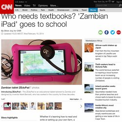 Zambian tablet ZEduPad transforms classrooms into interactive hubs