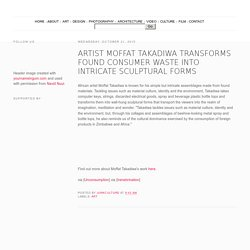 Artist Moffat Takadiwa Transforms Found Consumer Waste into Intricate Sculptural Forms