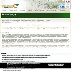 Dynamiques de l'emploi transfrontalier en Europe et en France - L'Observatoire des Territoires