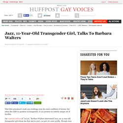 Jazz, 11-Year-Old Transgender Girl, Talks To Barbara Walters
