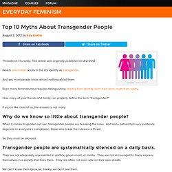 Top 10 Myths About Transgender People