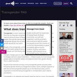 Transgender FAQ
