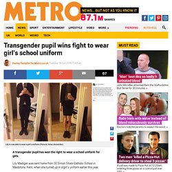 Transgender pupil wins fight to wear girl's school uniform in Maidstone