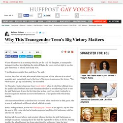 Why This Transgender Teen's Big Victory Matters