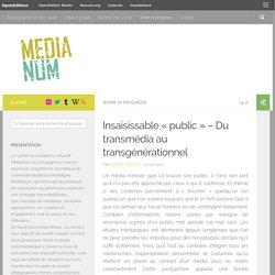 Insaisissable «public» – Du transmédia au transgénérationnel – MediaNum