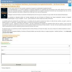 livre « Les fantômes familiaux, psychanalyse transgénérationnelle »