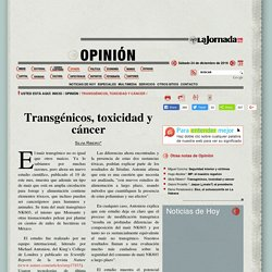 Transgénicos, toxicidad y cáncer