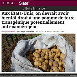 SLATE 08/11/14 Aux Etats-Unis, on devrait avoir bientôt droit à une pomme de terre transgénique potentiellement anti-cancérigène