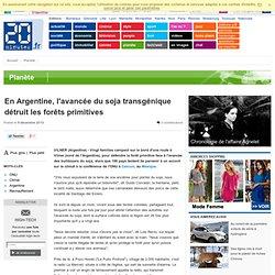 AFP 09/12/10 En Argentine, l'avancée du soja transgénique détruit les forêts primitives
